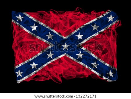 The flag of Confederate States of America consists of a smoke