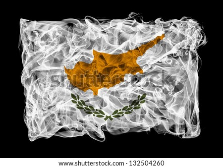 The flag of Cyprus consists of a smoke