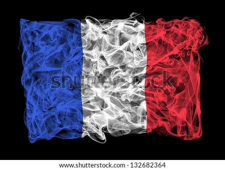 The flag of France consists of a smoke