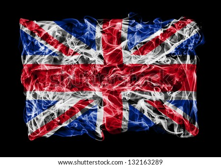 The flag of Great Britain consists of a smoke