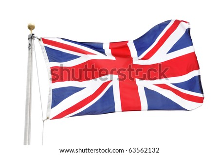 The Flag of Great Britain Isolated on White
