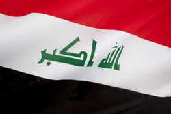 The flag of Iraq. In January 2008, a new design for the flag was confirmed. The parliament intended that the new design last for one year. However, it was reviewed in parliament and is now adopted.