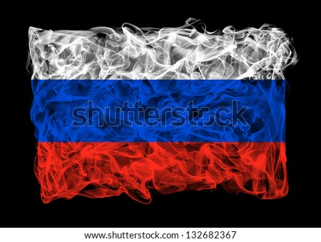 The flag of Russia consists of a smoke