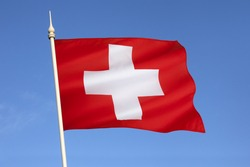 The flag of Switzerland. It was introduced as official national flag in 1889.