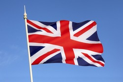 The flag of the United Kingdom of Great Britain and Northern Ireland. (The Union Flag)