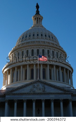the Flag of United States Capitol