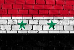 The flag on the wall. Syria