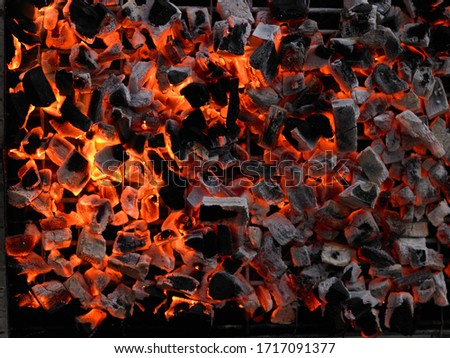 The flame of the charcoal grill is empty - from the top view. Сток-фото ©