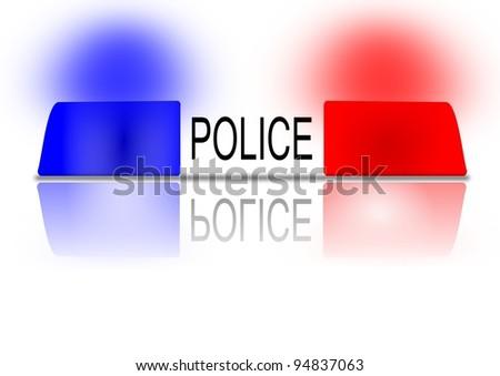 The flashing police beacon as an illustration