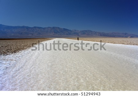 The flat expanse of Badwater, California