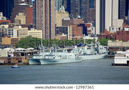 The Fleet Week New York 2008 at Mid-town Manhattan