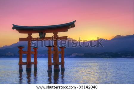 The Floating Otorii gate at Miyajima, Japan.