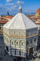 The Florence Baptistery (Italian: Battistero di San Giovanni), also known as the Baptistery of Saint John, is a religious building in Florence, Italy, and has the status of a minor basilica.