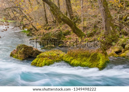 The flow of Big Spring in the Missouri Ozarks.
