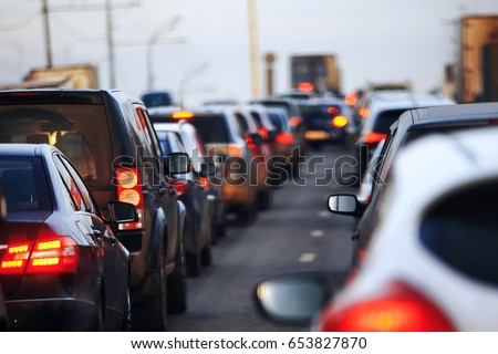 The flow of cars that drive in the city #653827870