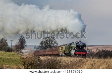 The Flying Scotsman leaving Goathland
