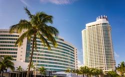 The Fontainebleau Hotel, in Miami Beach, Florida.