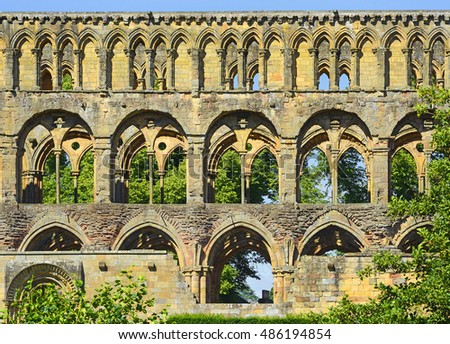The former church of Jedburgh Abbey, King David I. founded the Abbey in 1138. Its position, so close to the border with Northumbria. Roxburghshire, Scotland, United Kingdom. Zdjęcia stock ©