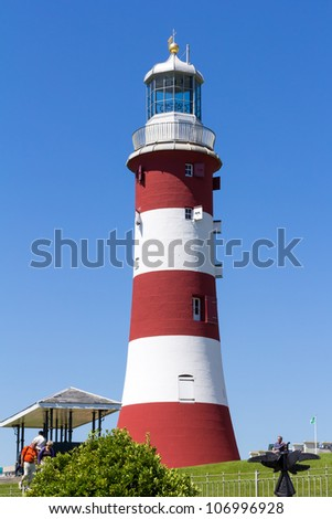 The former Eddystone Lighthouse, Smeaton's Tower was built on Plymouth Hoe to Celebrate it groundbreaking design.