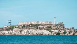 The former prison island named Alcatraz, San Francisco, USA