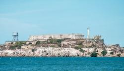 The former prison island named Alcatraz, San Francisco, USA