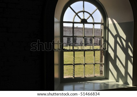 The Fort Macon Civil War museum in North Carolina - stock photo
