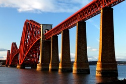 The Forth Bridge and Firth of Forth, Scotland