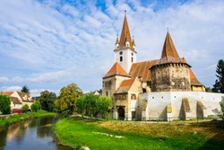 The fortified Church in Cristian near Sibiu in Transylvania, Romania