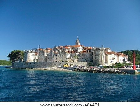 The fortified city of Korcula in Croatia