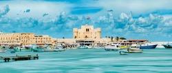 The fortress in Alexandria, Citadel of Qaitbay Egypt