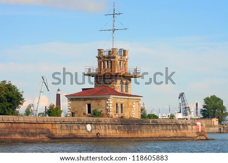 The fortress of Kronstadt, near St. Petersburg, Harbour post of the battery Menshikov