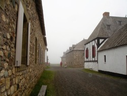 The Fortress of Louisbourg, a National Historic Site, near Louisbourg, Nova Scotia, Canada