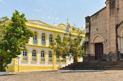 the forum building in world historical heritage city of Goiás, Brazil