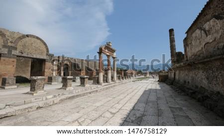 The forum in Pompei, antique site, Italy. #1476758129