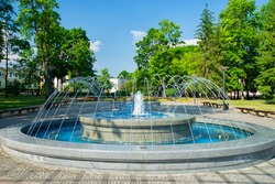 the fountain in park