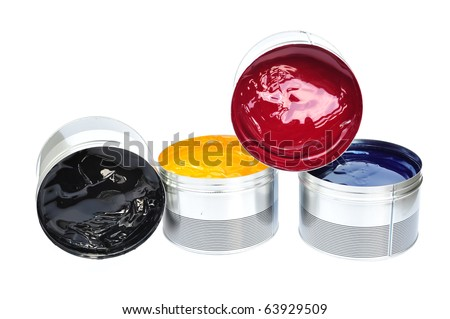 The Four Offset Printing Color Ink, Process Ink