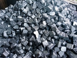 The fraction of aluminum or metal or ore that is a heap is on the stock for melting or using other in the job industry, Beautiful and close up aluminum alloys texture and background for decorative
