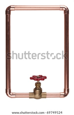 The frame is made from copper water pipes.
