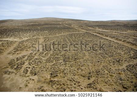 The Franz Josef Land Archipelago, the polar desert, the hills, the spring, the snow melts