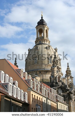 The Frauen Church in Dresden Germany