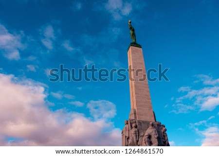 The Freedom Monument is a memorial located in Riga, Latvia #1264861570
