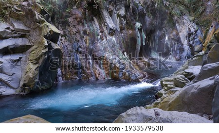 The Freezing Stream and Lisong Hot Spring ストックフォト ©