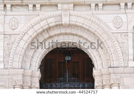 The front entrance of the historic parliament building, victoria downtown, british columbia, canada