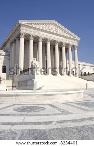 The front of the US Supreme Court in Washington, DC.