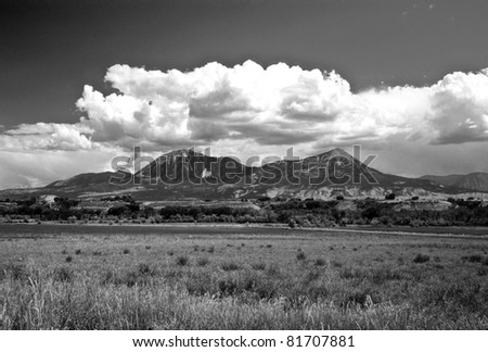 The Front Range of the Colorado Rockies - stock photo