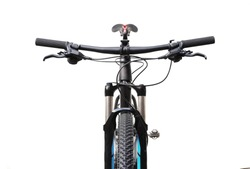 The front side of mountain bike isolated