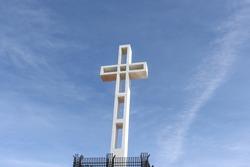 The 824 ft. tall white cross at Mt. Soledad National Veterans Memorial in La Jolla. CA.