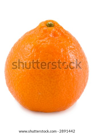the full tangerine isolated on white background