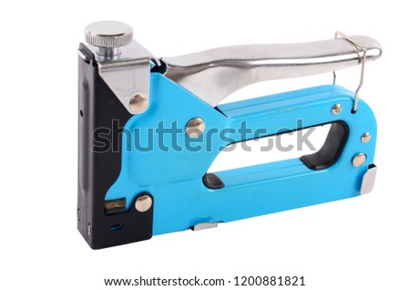 The furniture stapler isolated on white background