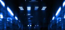 the futuristic techno neon abstraction